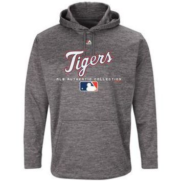 Detroit Tigers Majestic MLB Gray Ultra Streak Pullover Hoodie