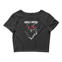 ghose face halloween Crop Top