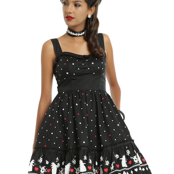 Disney Alice In Wonderland Red Queen Retro Dress