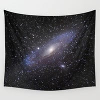 Galaxy Andromeda Wall Tapestry by Guido Montañés