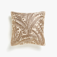 Metallic embroidered cushion cover - Throw Pillows - BEDROOM | Zara Home United States of America