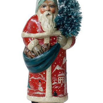 Vaillancourt 'Santa in Red Village Scene Coat' Figurine | Nordstrom