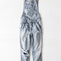 AEO Women's Denim Overall (Light Destroy Wash)