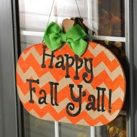 Happy Fall Y'all Wall Plaque | Kirklands