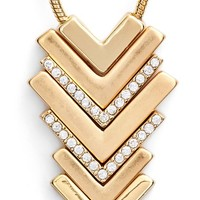 Women's Lonna & Lilly Chevron Pendant Necklace - Gold/ Cry