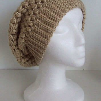 Crocheted Slouchy Hat / Beanie/ Beret - All Season