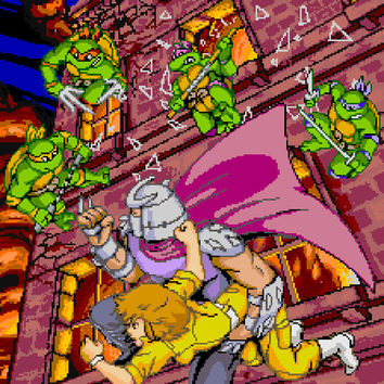 Teenage Mutant Ninja Turtles Arcade Video Game Poster