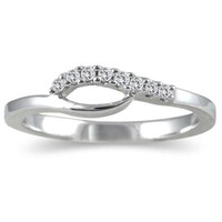 1/10 Carat Diamond Twist Ring in .925 Sterling Silver