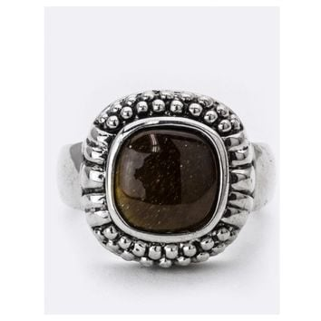 Tiger Eye Square Stone Ring