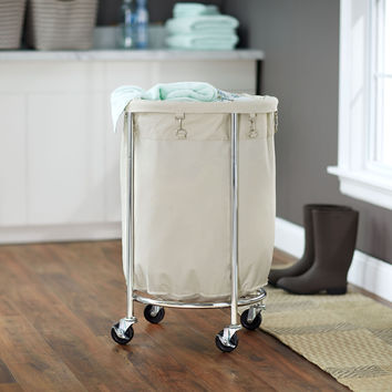 Round Commerical Laundry Hamper