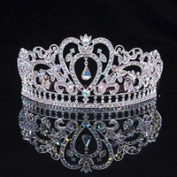 Bridal Tiara Austrian Rhinestone Crown Headband Wedding Prom