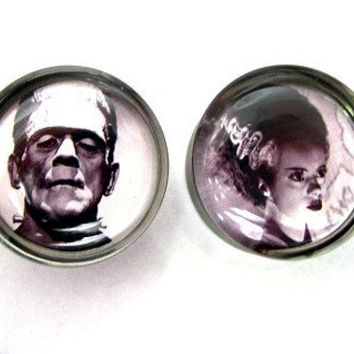 Bride of Frankenstein and Frankenstein's Monster by SuperPlugs