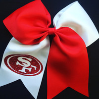 SF 49ers Hair Bow
