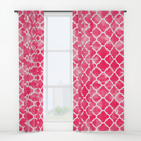 Moroccan Watermelon Window Curtains by All Is One