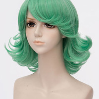 Green Tatsumaki Curly Fiber Cosplay Wig