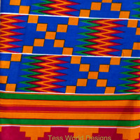 Authentic African Kente print, fabric ,Supplies, for clothing, special occasion, craft and more