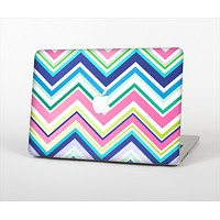 The Vibrant Colored Chevron Pattern V3 Skin Set for the Apple MacBook Air 13""