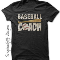 Baseball Coach Shirt - Mens Coach Gift / Womens Baseball Shirt / Adult Baseball Team Tshirt / Baseball Coaching Outfit / Coach Baseball Tee