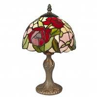 Deluxe 16inch (40cm) Poppy Stained Glass Handmade Tiffany Table Lamp
