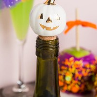 Trick or treat yo self pumpkin bottle stopper