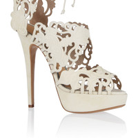 Charlotte Olympia - Belinda cutout suede sandals