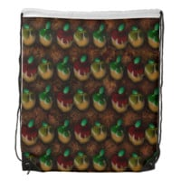 Caramel Apples Pattern Drawstring Backpack