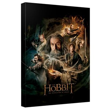 The Hobbit - Smaug Poster Canvas Wall Art With Back Board