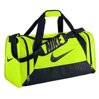 Nike Duffel Bag Brasilia 6 Green Volt Medium Bag Gym Duffle Black Men Women Team