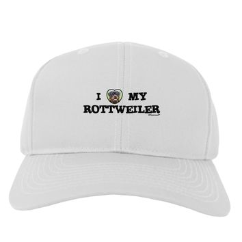 I Heart My Rottweiler Adult Baseball Cap Hat by TooLoud