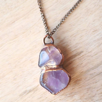 Raw Ametrine Necklace Rough Amethyst Raw Stone Necklace Raw Crystal Necklace Ametrine Jewelry Amethyst Necklace Raw Gemstone Necklace