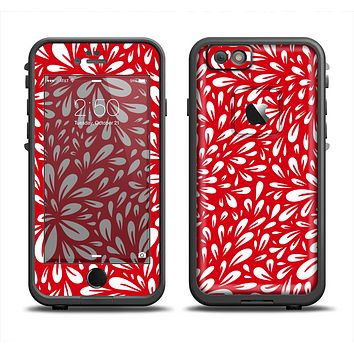 The Red Vector Floral Sprout Apple iPhone 6 LifeProof Fre Case Skin Set