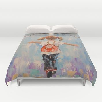 Childhood Duvet Cover by OLHADARCHUK