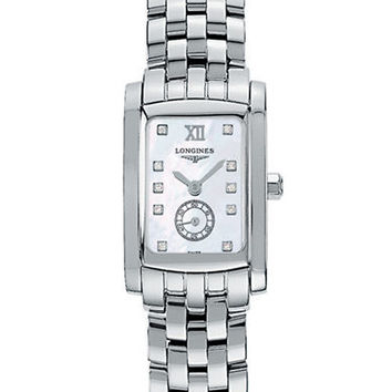 Longines Ladies Dolce Vita Stainless Steel and Diamond Watch