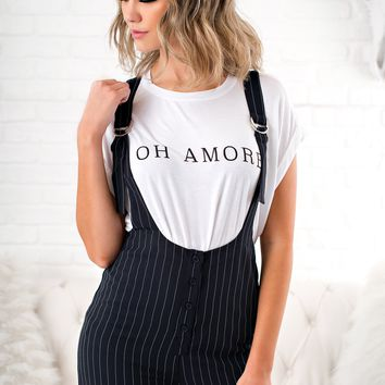 Oh Amore Graphic Tee (White)