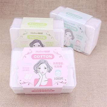 1000 pcs Wipes Remover Cotton Pads Paper Nail Art Polish Wipe Makeup Cleaner