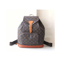 Louis Vuitton Backpack Monogram Montsouris GM Authentic Vintage Purse handbag