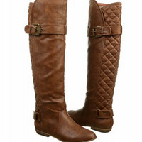 Jersey Girl Knee High Boot (Tan)