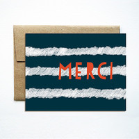 Merci Stripes Card
