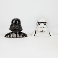 Star Wars Salt & Pepper Shaker Set Black/White One Size For Men 26970212501