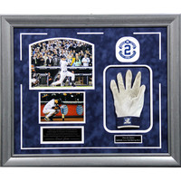 Derek Jeter Game Used Batting Glove w Final 2014 Home Game Images 20x24 Framed Collage - BW212-1106