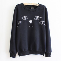 Fashion cartoon cat sweater