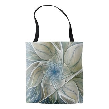 A Floral Dream Pattern Abstract Fractal Art Tote Bag