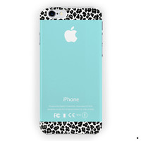 Apple Tiffany Teal And Black Leopard For iPhone 6 / 6 Plus Case