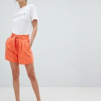 Oasis Belted Tailored Shorts at asos.com