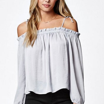 LA Hearts Silky Off-The-Shoulder Top at PacSun.com