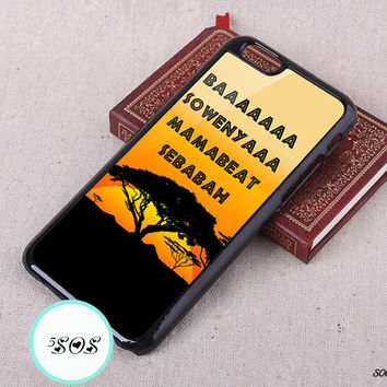 Resin HAKUNA MATATA iPhone 6 plus case iPhone 6 case iPhone 5S case iPhone 5c 4S Samsung Galaxy S3 S4 S5 Case, Note 2/ 3 - s00014