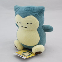 2016 14cm Anime New Rare Pokemon Plush Toy Snorlax Plush Soft Stuffed Animal Doll For Kid Gif KaBiShou #10