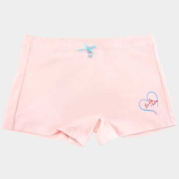 Ivy's Panty Cute Women's Hipster Panties Girls, Teens and Ladies Blue Bow Boy Short Pink