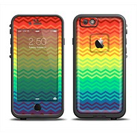 The Rainbow Thin Lined Chevron Pattern Apple iPhone 6/6s LifeProof Fre Case Skin Set