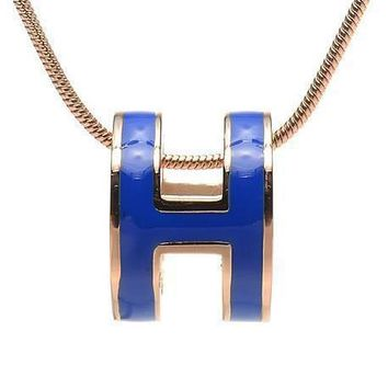 Hermes Woman Fashion Logo Plated Necklace For Best Gift-4